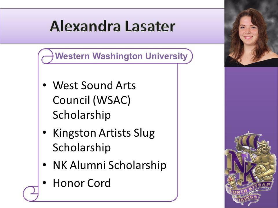 West Sound Arts Council (WSAC) Scholarship Kingston Artists Slug Scholarship NK Alumni Scholarship Honor Cord Western Washington University