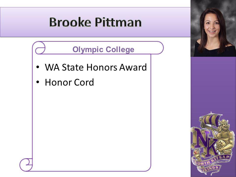 WA State Honors Award Honor Cord Olympic College