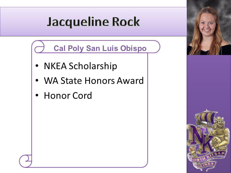 NKEA Scholarship WA State Honors Award Honor Cord Cal Poly San Luis Obispo