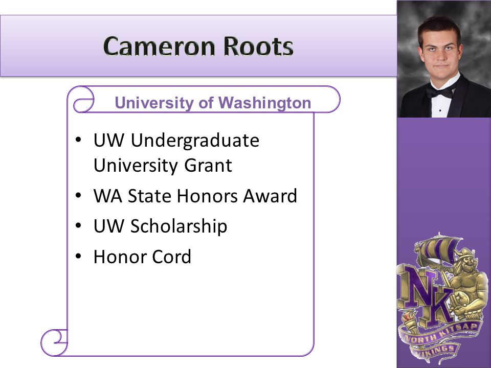 UW Undergraduate University Grant WA State Honors Award UW Scholarship Honor Cord University of Washington