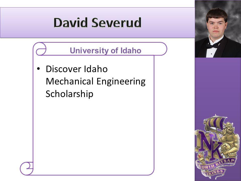 Discover Idaho Mechanical Engineering Scholarship University of Idaho