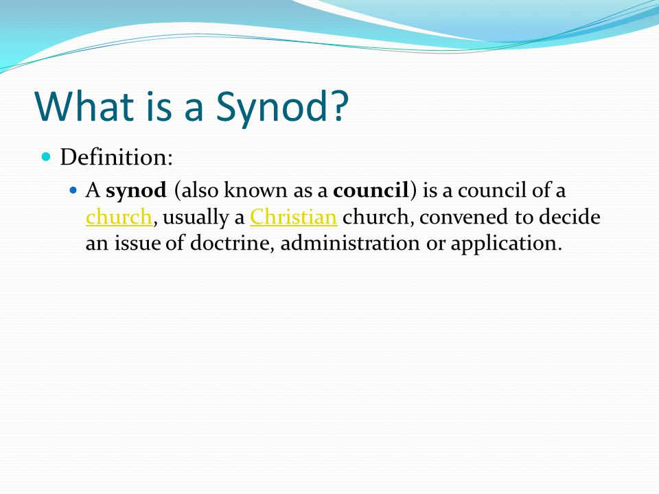 What is a Synod.