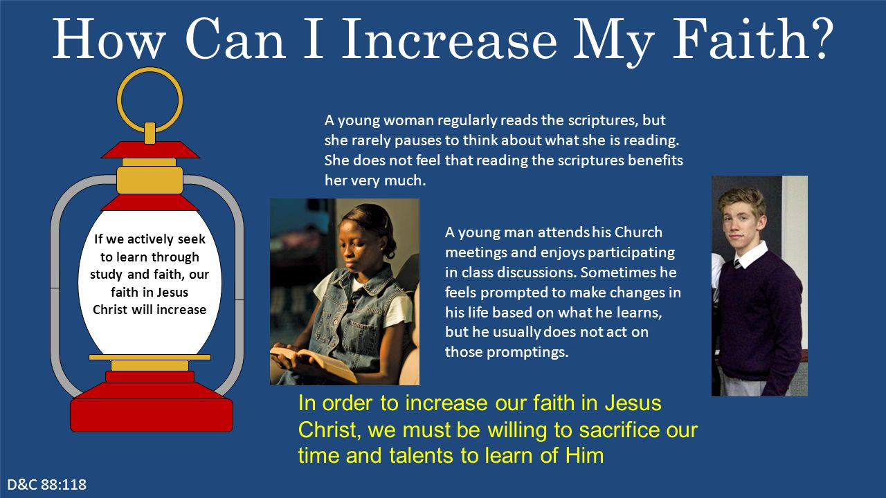How Can I Increase My Faith.