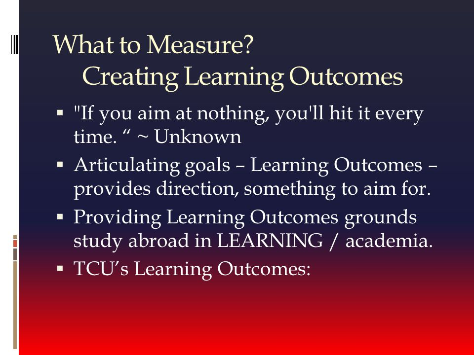 Your turn  What are your Learning Outcomes. How would you use PRISM.