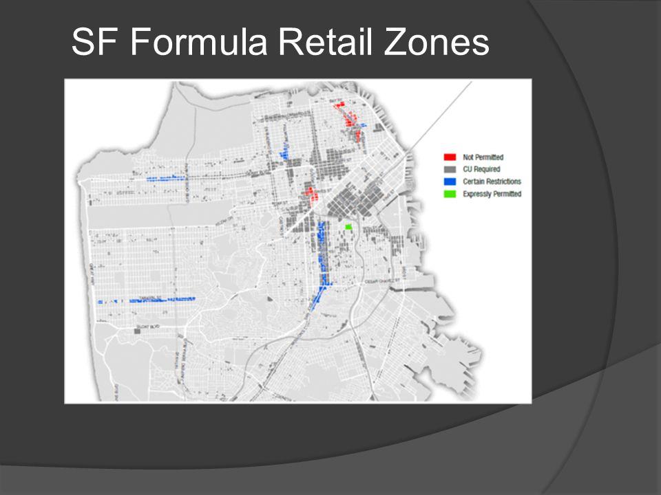 SF Formula Retail Zones