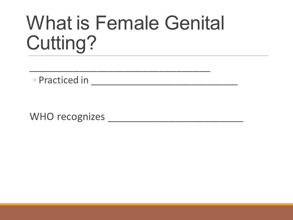 Female Genital Cutting FGC attendants in Indonesian elementary school classroom