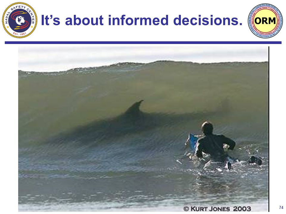 74 It's about informed decisions.