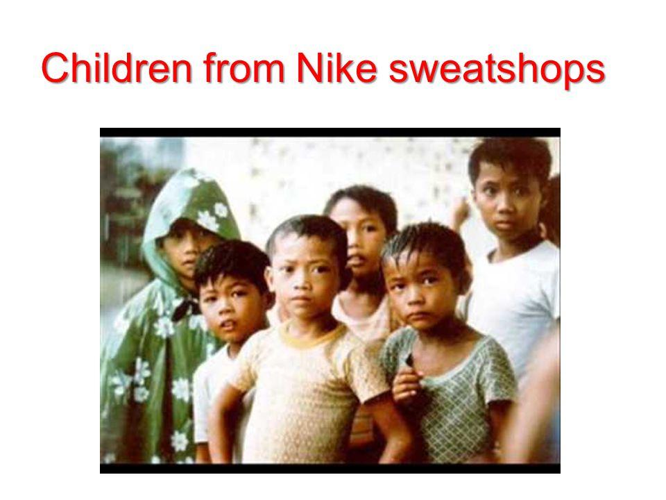 Children from Nike sweatshops