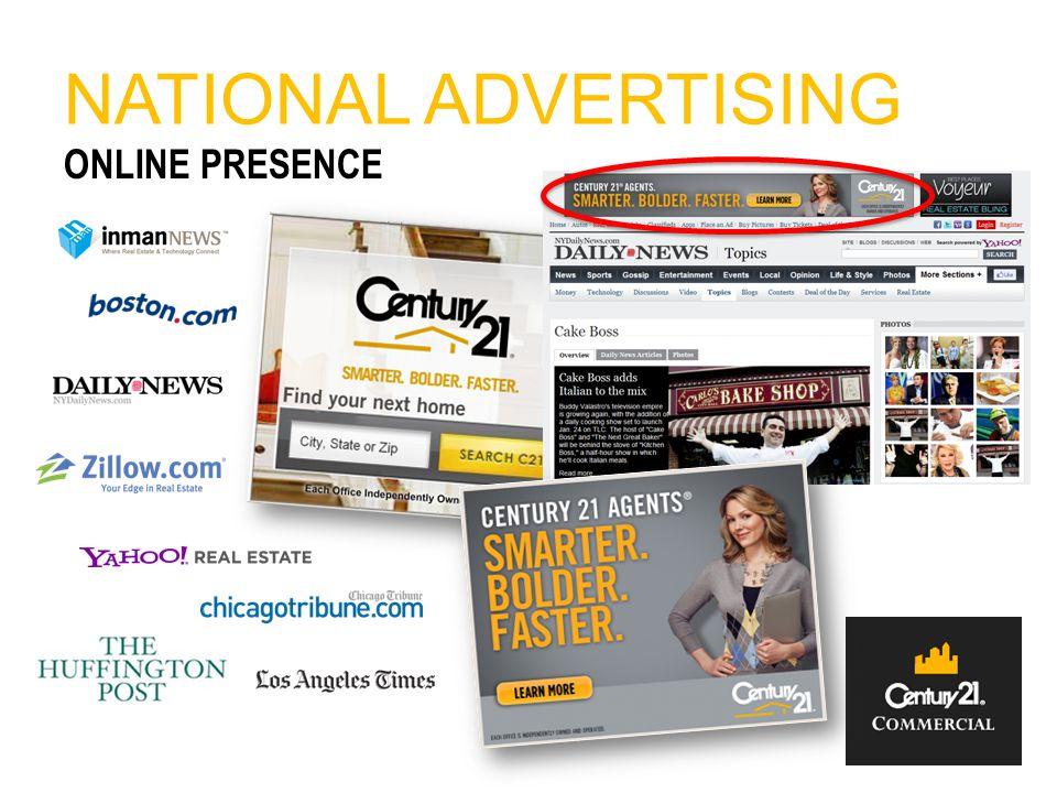 NATIONAL ADVERTISING ONLINE PRESENCE