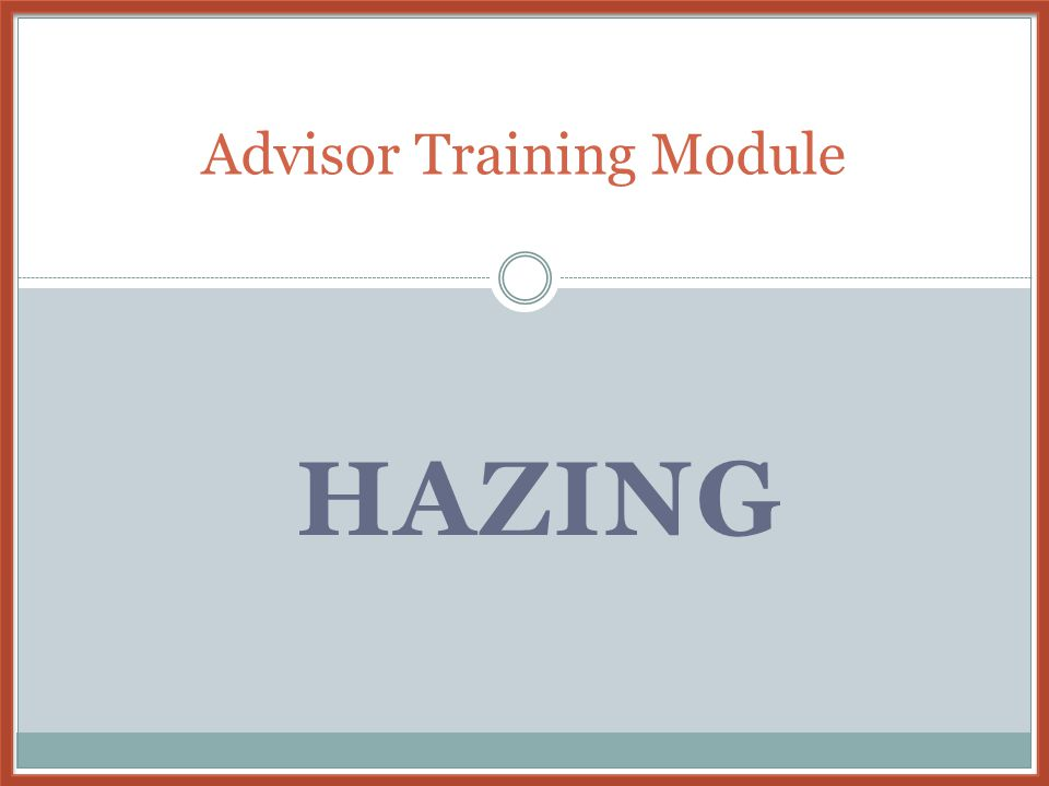 Myth #4: Hazing is an effective way to teach respect and develop discipline.