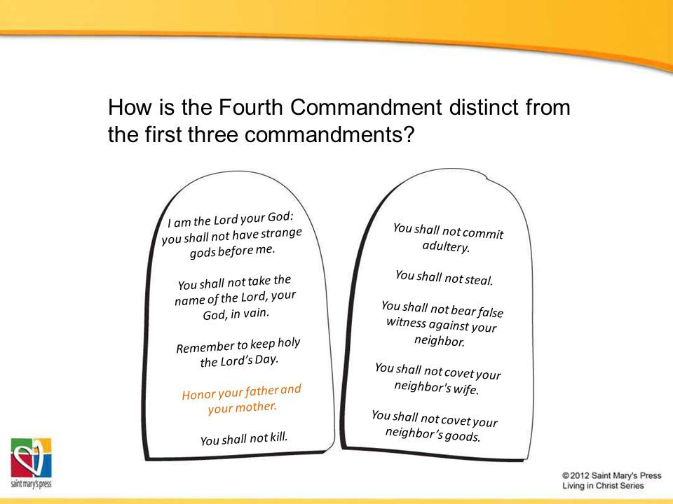 How is the Fourth Commandment distinct from the first three commandments.