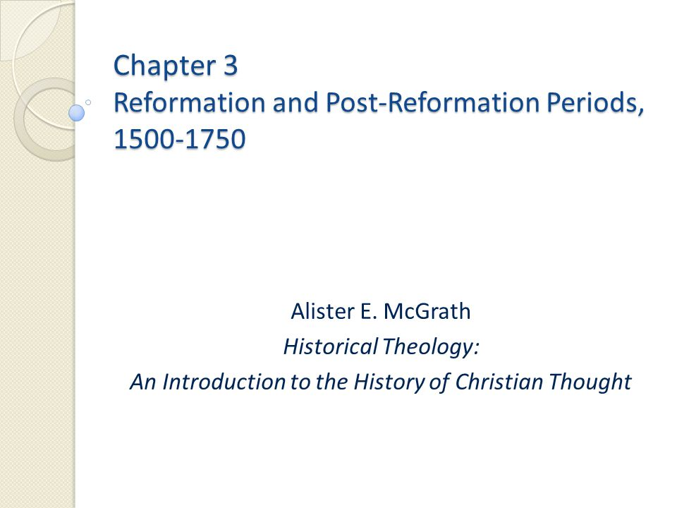 Reformation – or Reformations.