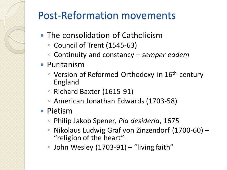 Key theologians Martin Luther (1483-1546) ◦ University of Wittenberg Huldrych Zwingli (1484-1531) ◦ Zurich John Calvin (1509-64) ◦ Geneva Teresa of Avilà (1515-82) ◦ Mystical theology