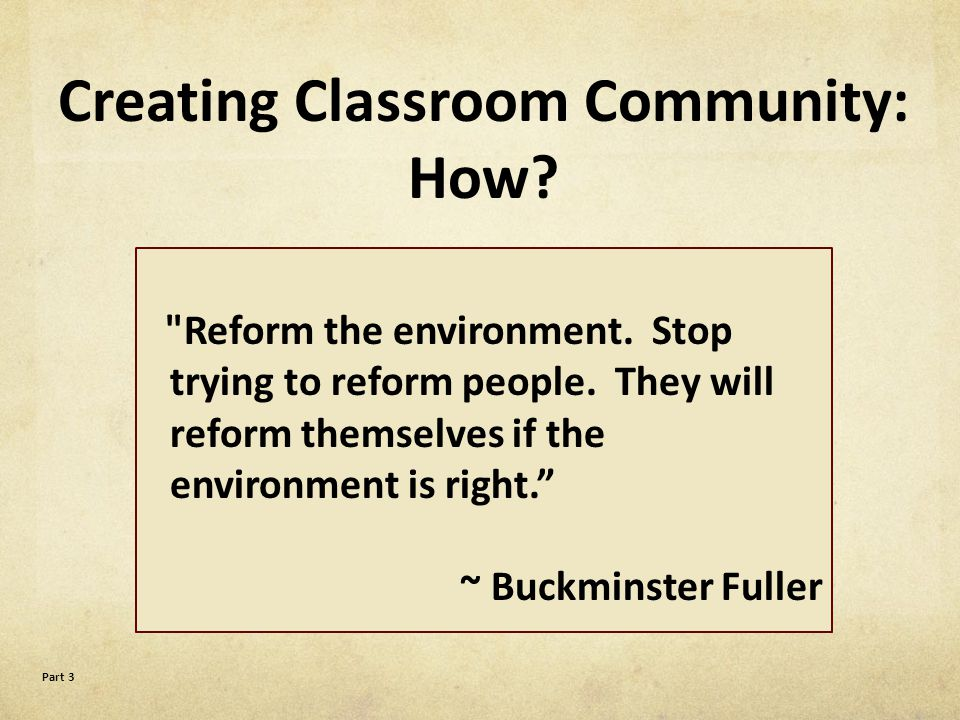 Flow Foundations: What is a sense of community.Why create a sense of community in schools.