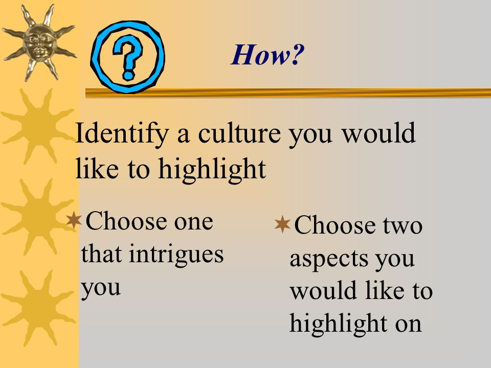 To bridge the culture gap… We must make an effort to learn about others. And so begins our journey …….