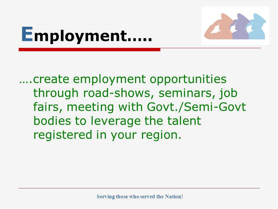 E mployment…..