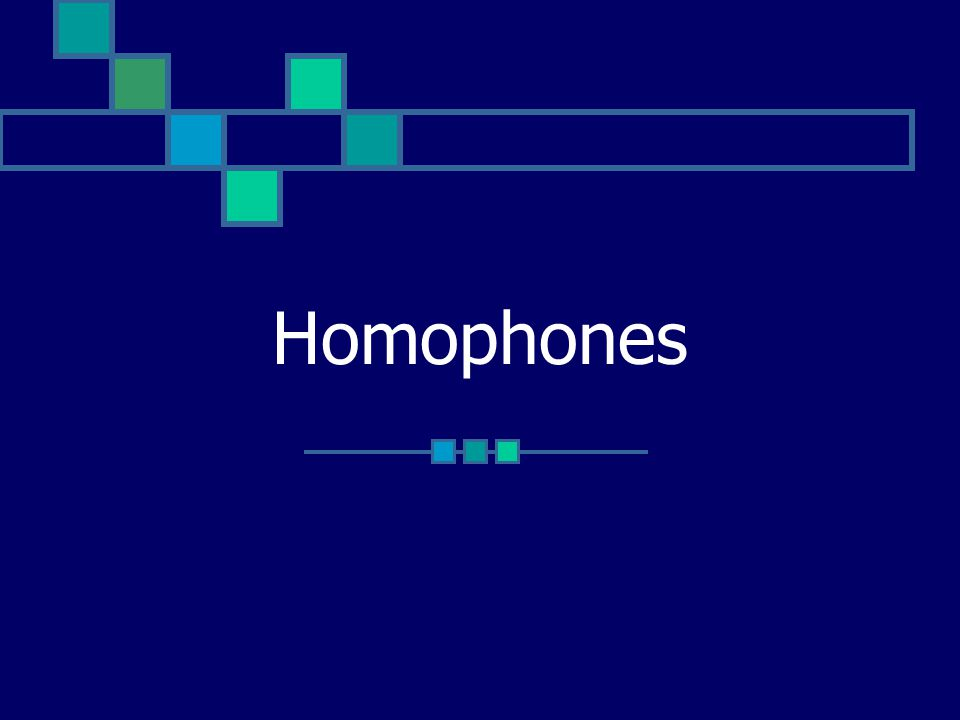 What is a Homophone.