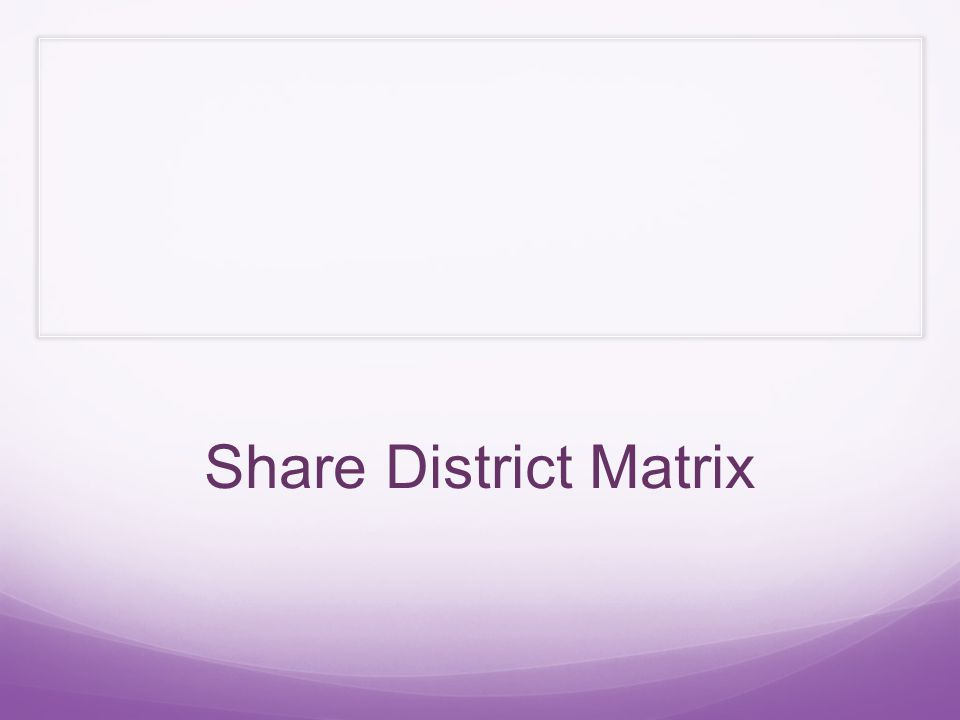 Share District Matrix