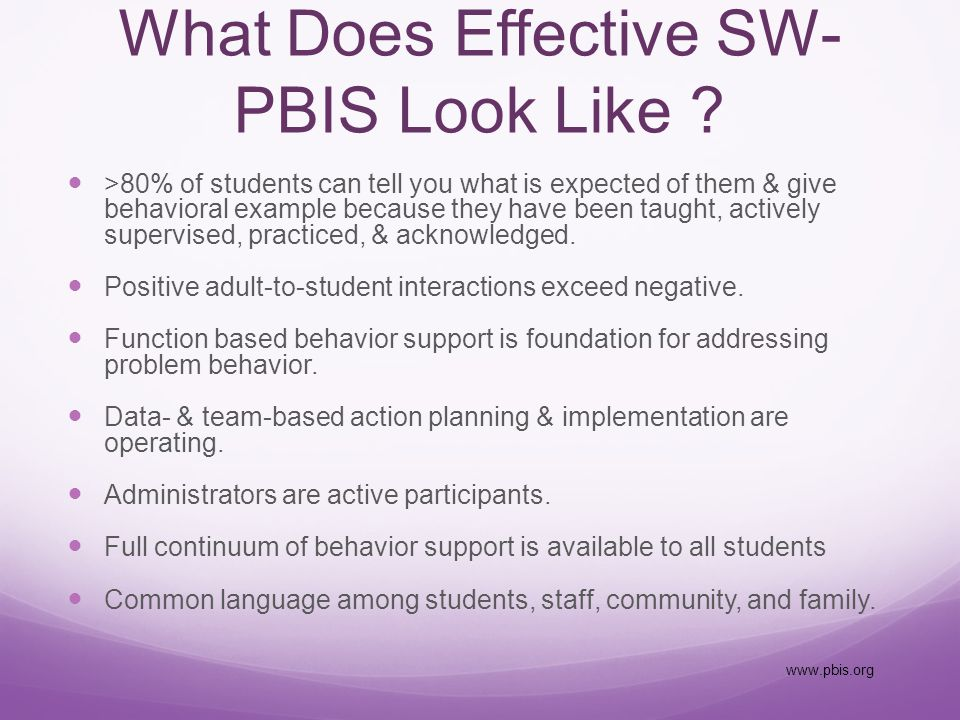 How Families and Community can Support SW-PBIS Initiative What to share with families.