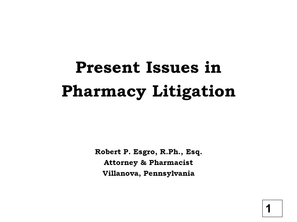 Case 1 – Misfill Prescription 1.Prescription was mistyped - wrong strength, directions, or drug 2.Refilled with wrong drug Prevention – Go back to original on 1 st refill and review what was typed Present Issues in Pharmacy Litigation 22