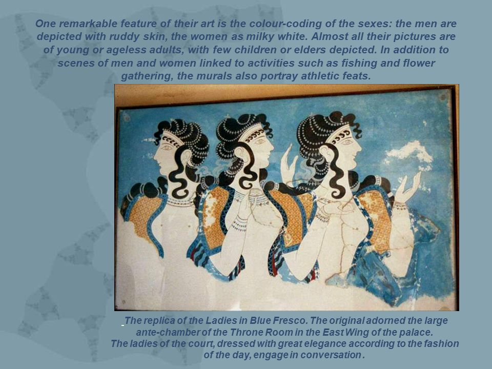 The replica of the Ladies in Blue Fresco.