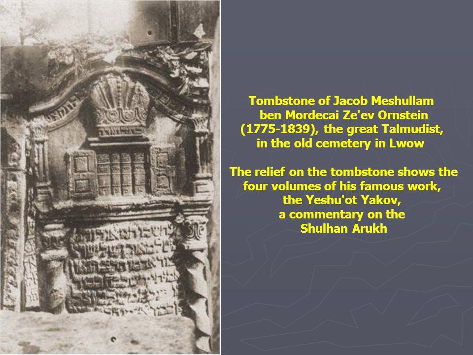 The tomb of Rabbi Elijah (1720-1797), the Bilna Gaon According to legend, the tree behind the tomb sprang from the graveside of Walentyn Potocki, a Po