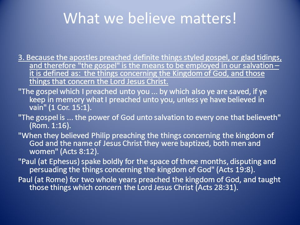 What we believe matters. 3.