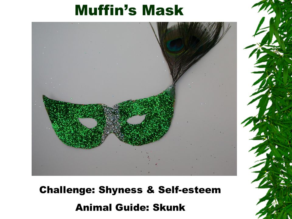 Muffin's Mask Challenge: Shyness & Self-esteem Animal Guide: Skunk