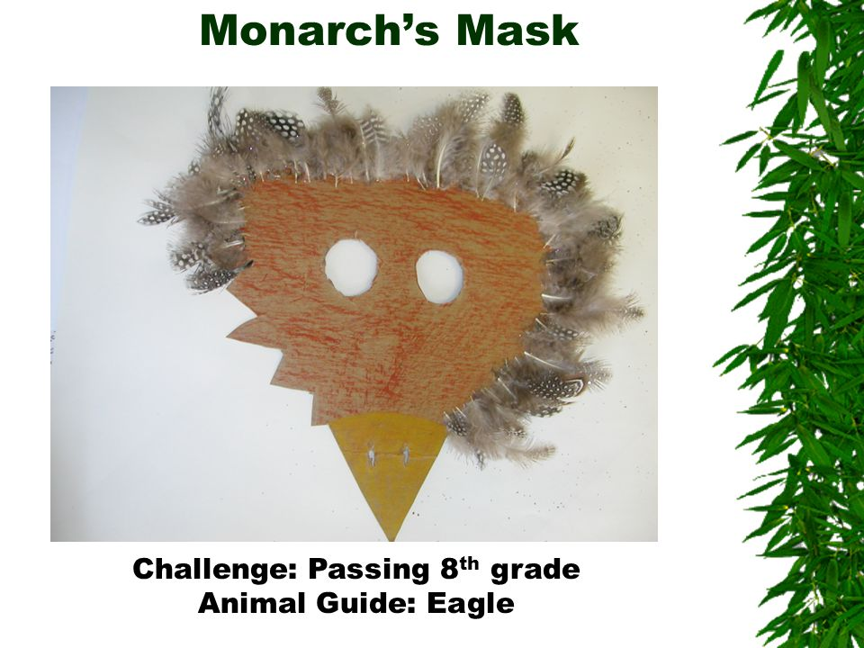 Monarch's Mask Challenge: Passing 8 th grade Animal Guide: Eagle