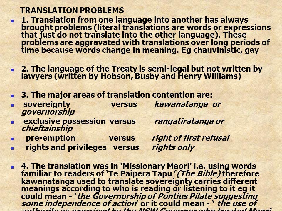 TRANSLATION PROBLEMS 1.