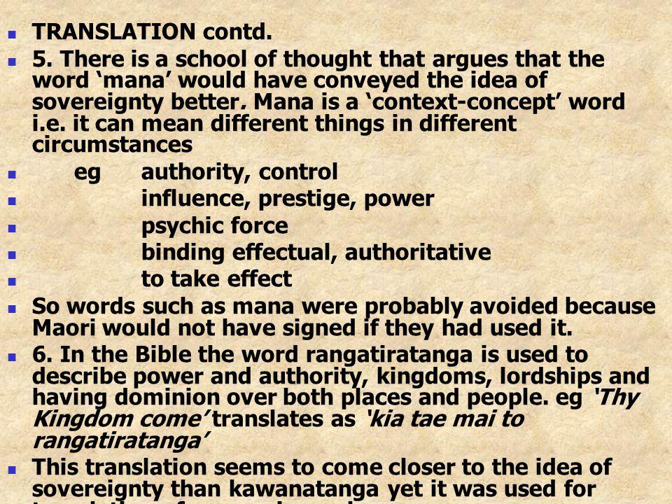 TRANSLATION contd.5.