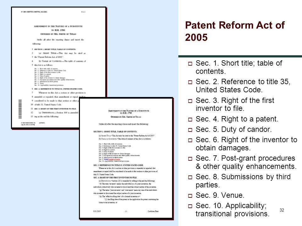 32  Sec. 1. Short title; table of contents.  Sec.