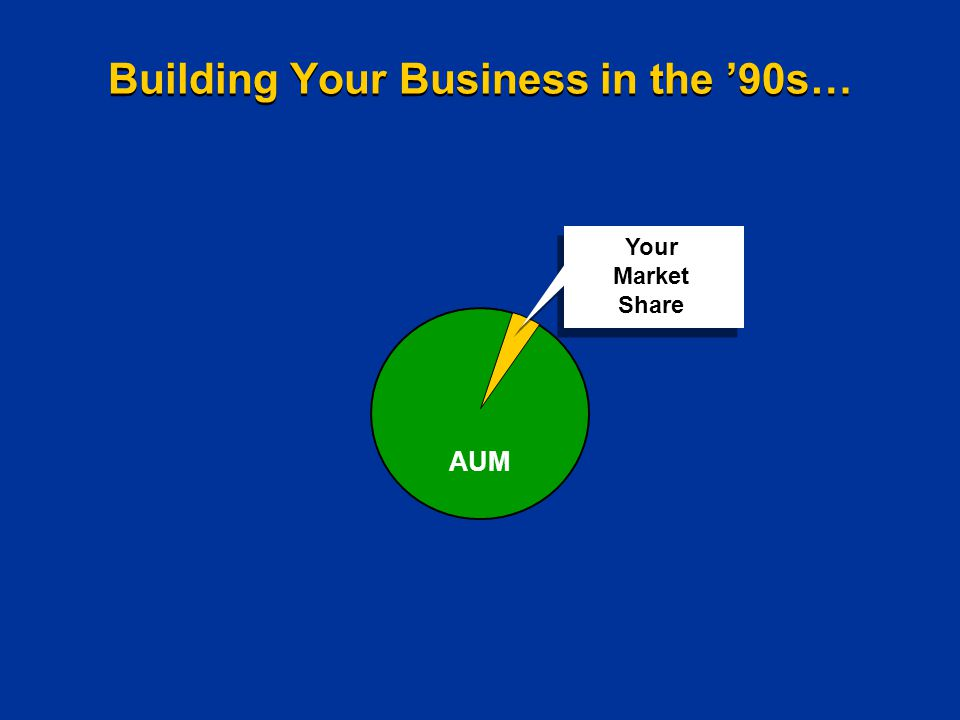 Building Your Business in the '90s… AUM Your Market Share