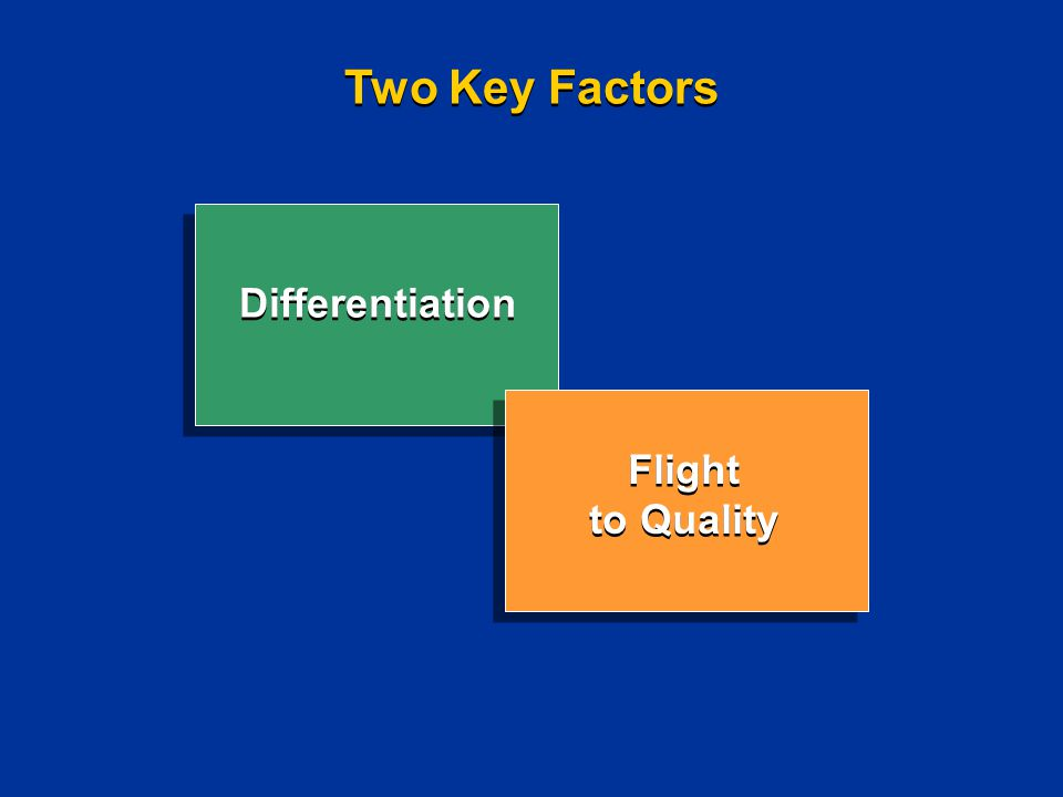 Two Key Factors Differentiation Flight to Quality Flight to Quality