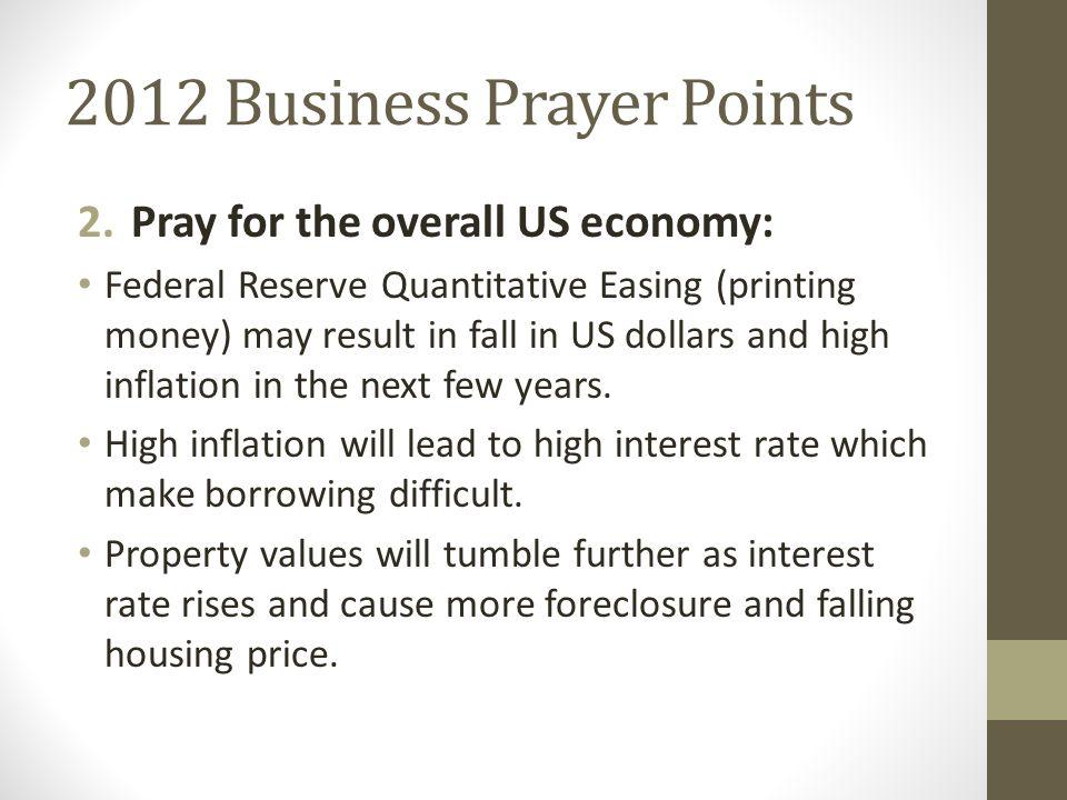2012 Business Prayer Points 3.