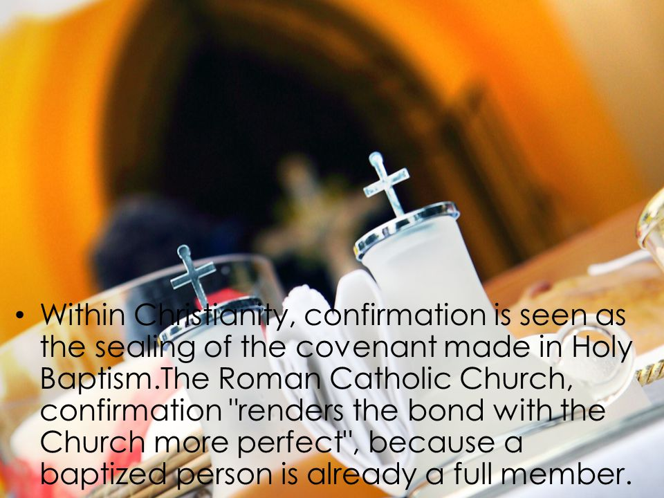 From this fact, Confirmation brings an increase: it unites us more firmly to Christ; it increases the gifts of the Holy Spirit in us; it renders our bond with the Church more perfect; it gives us a special strength of the Holy Spirit to spread and defend the faith by word and action as true witnesses of Christ, to confess the name of Christ boldly, and never to be ashamed of the Cross