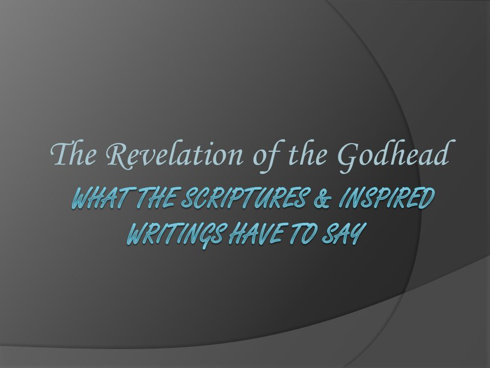 The Revelation of the Godhead