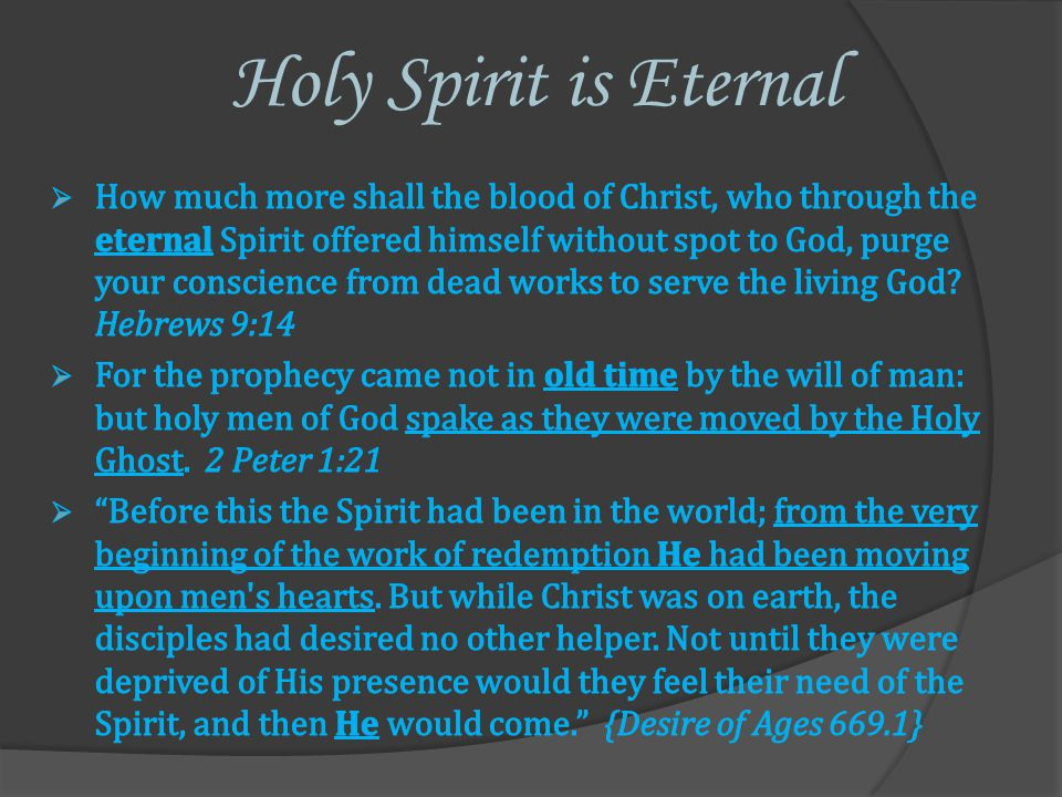 Holy Spirit is Eternal