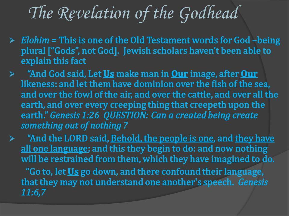The Manifestation of 3 of the Godhead