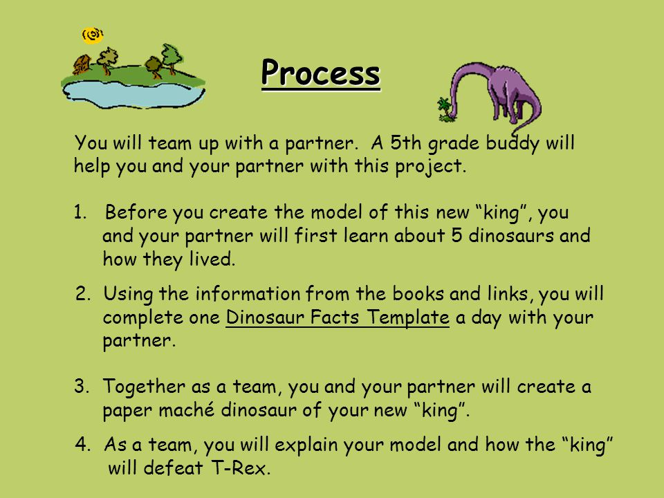 Process You will team up with a partner.