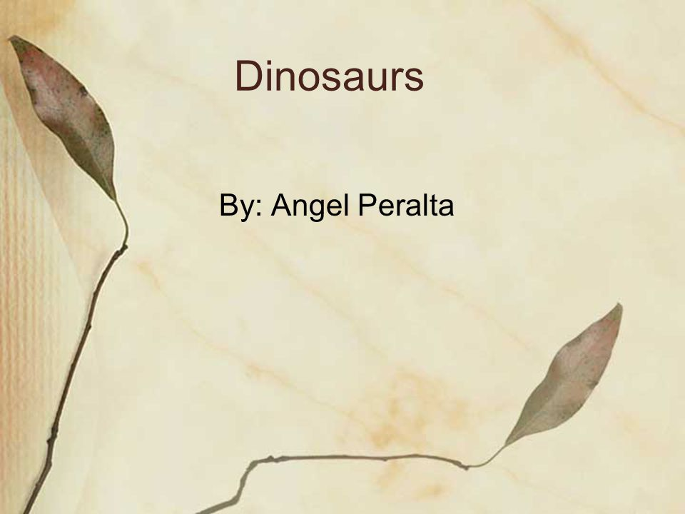 Dinosaurs By: Angel Peralta