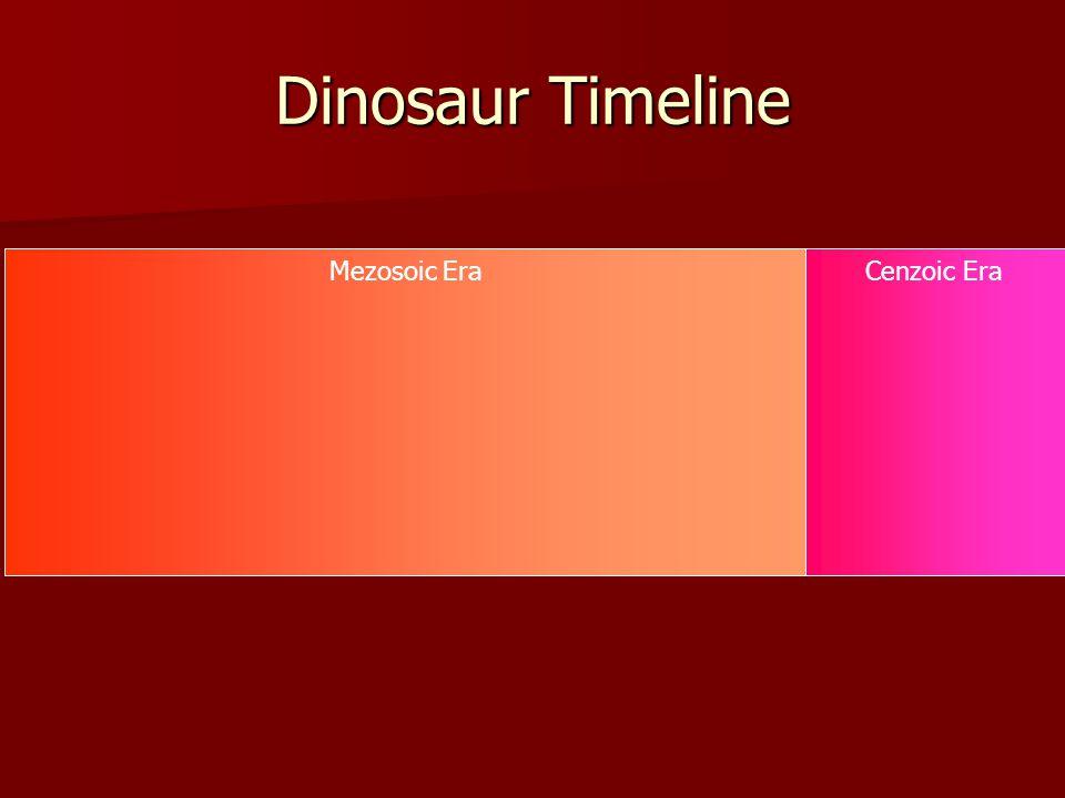 Mezosoic EraCenzoic Era Dinosaur Timeline