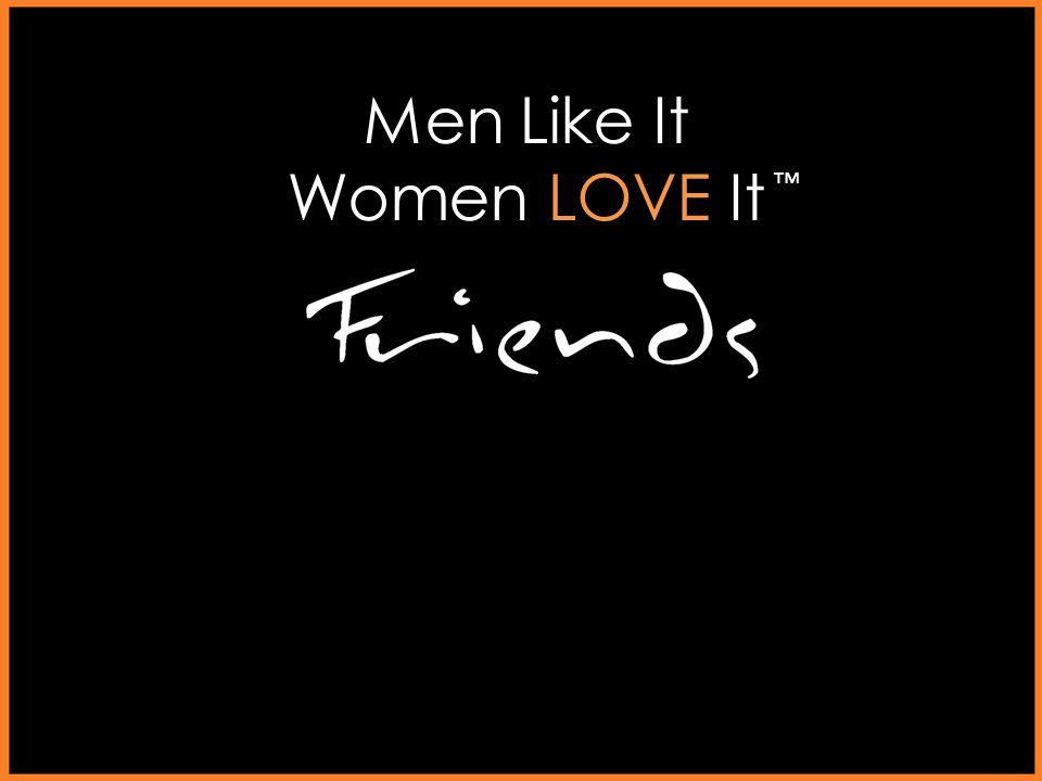 Men Like It Women LOVE It Let the fun begin. ™