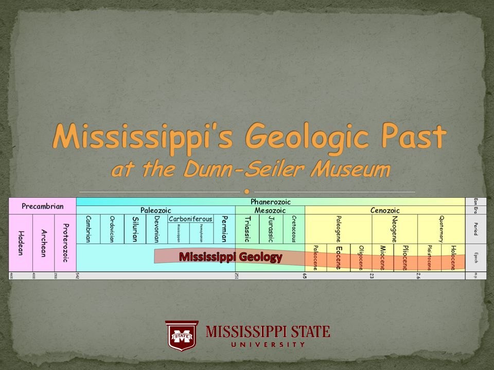 During the Precambrian, Mississippi was under the ocean.