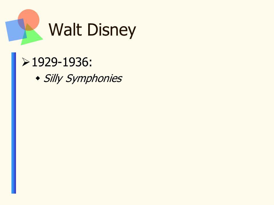 Walt Disney  1929-1936:  Silly Symphonies