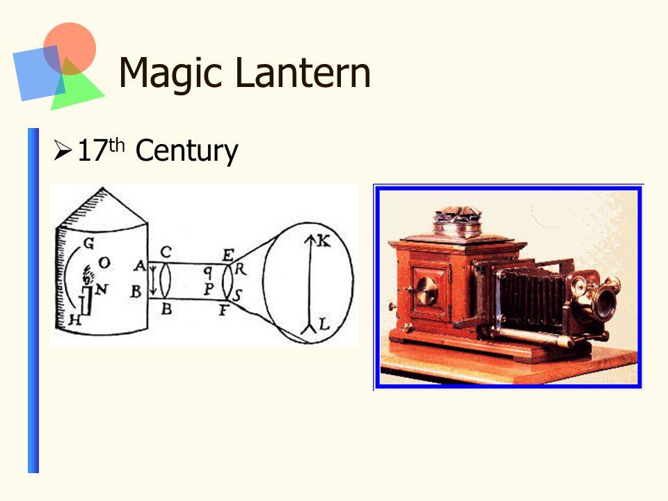 Magic Lantern  17 th Century