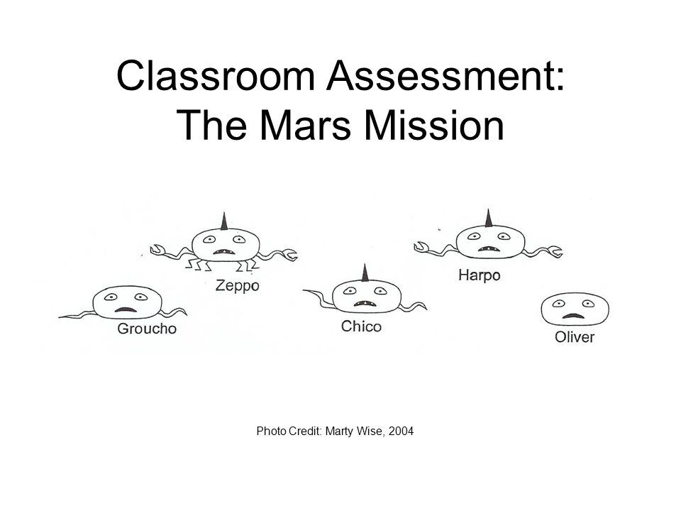 Classroom Assessment: The Mars Mission Photo Credit: Marty Wise, 2004