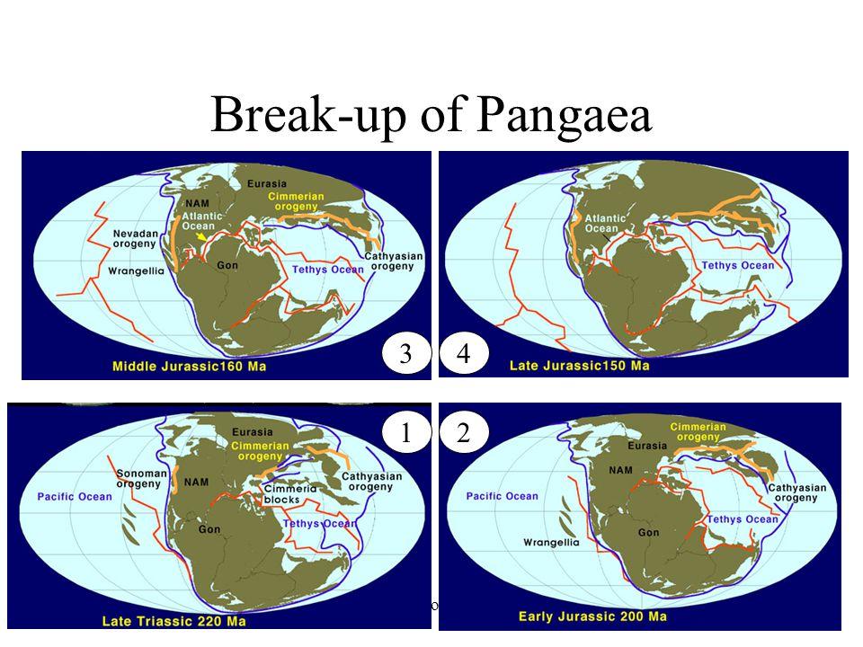 Earth History, Ch. 1635 Break-up of Pangaea 12 43