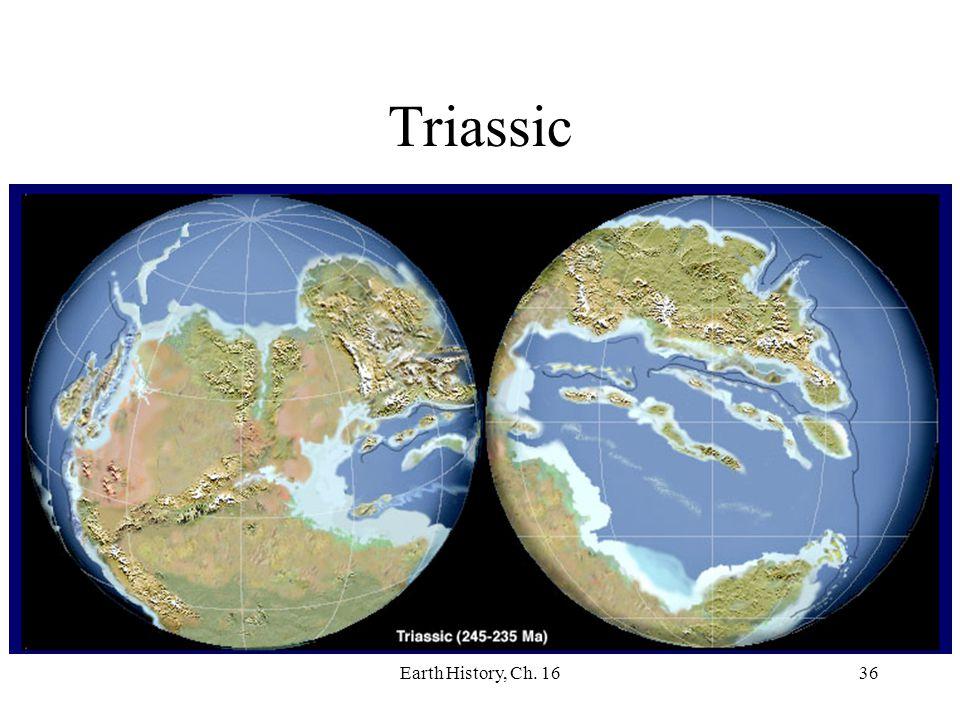 Earth History, Ch. 1636 Triassic