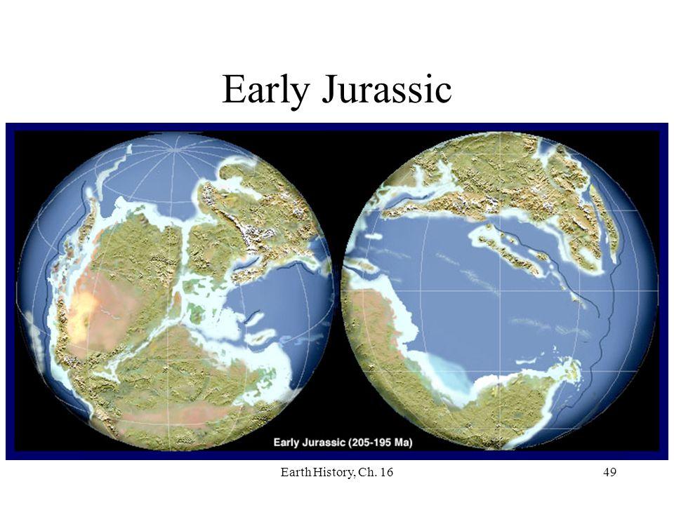 Earth History, Ch. 1649 Early Jurassic